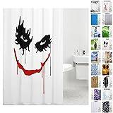 Sanilo Duschvorhang, viele schöne Duschvorhänge zur Auswahl, hochwertige Qualität, inkl. 12 Ringe, wasserdicht, Anti-Schimmel-Effekt (180 x 200 cm, Joker)
