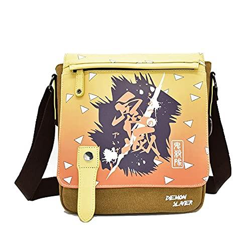 Messenger Bags - Anime Demon Slayer Casual Canvas Shoulder Clamshell Sling Bag 3