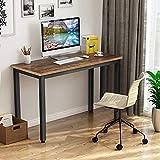 Mesa de Ordenador Escritorio para ordenador 100 x 50 x 75 cm, con tablero grueso y marco de metal resistente, mesa Escritorio de oficina Estudio para oficina hogar (marrón)