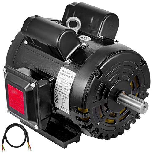 VEVOR Air Compressor Motor, 5HP 1725RPM Single Phase Electric Compressor Motor 230V 60Hz 184T Frame Electric Motor for Air Compressor