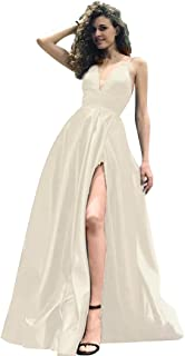 Ivory Satin Cocktail Dress