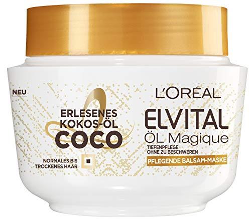 L'Oréal Paris Elvital Magique – Mascarilla para el pelo con aceite de coco – pack de 2unidades de 300 ml