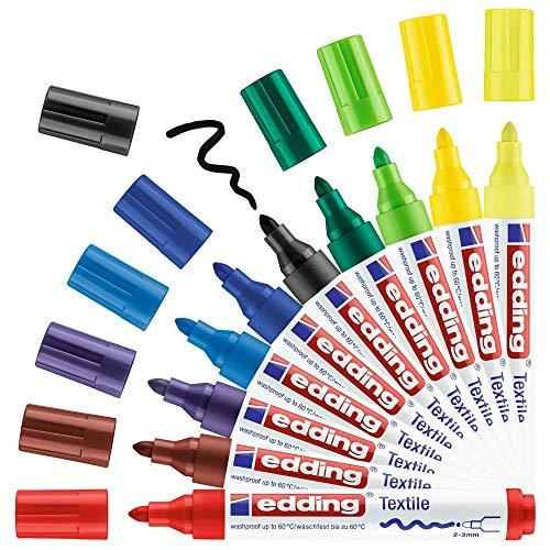 edding Textilmarker edding 4500 creative, 2-3 mm, sortiert, 10er pack