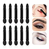 Professional Double Head Eyeshadow Brushes Cosmetic Tool 50 Pcs Disposable Dual Sides Eyeshadow Sponge Brushes Makeup Applicator, (Size: 2.44 inch, Color: Black)