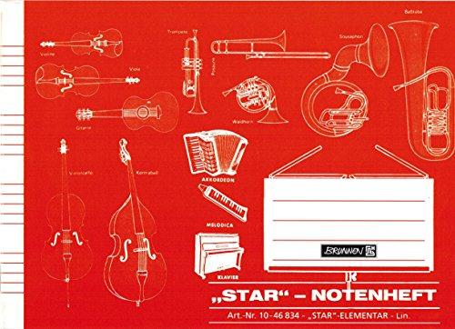 """STAR Notenheft Elementar""""BRUNNEN"""" 16 Blatt /A5 querformat (or.)"""