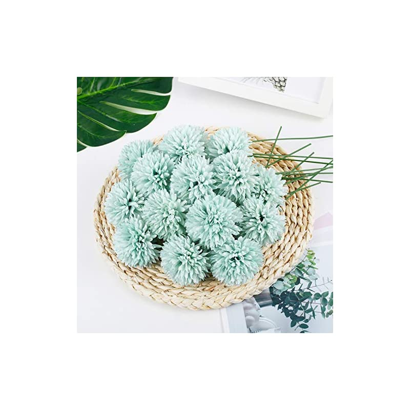 silk flower arrangements 25pcs artificial flowers, silk chrysanthemum ball dark blue bouquets hydrangea for wedding bridesmaid lifelike fake flowers homedecor diy partyblue