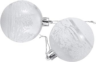 CLISPEED 6pcs Christmas Ball Ornament Shatterproof Decorations Xmas Tree Clear Baubles Hanging Pendant for Holiday Seasona...