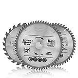 3pcs hoja de sierra circular, 210mm de diámetro, 24/48T/60T hoja de disco de sierra con orificio de 30mm