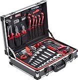 Meister Werkzeugkoffer 121-teilig - Stabiler Alu-Koffer - Werkzeug-Set - Für Haushalt, Garage & Werkstatt / Profi Werkzeugkoffer befüllt / Werkzeugkiste / Werkzeugbox komplett mit Werkzeug...