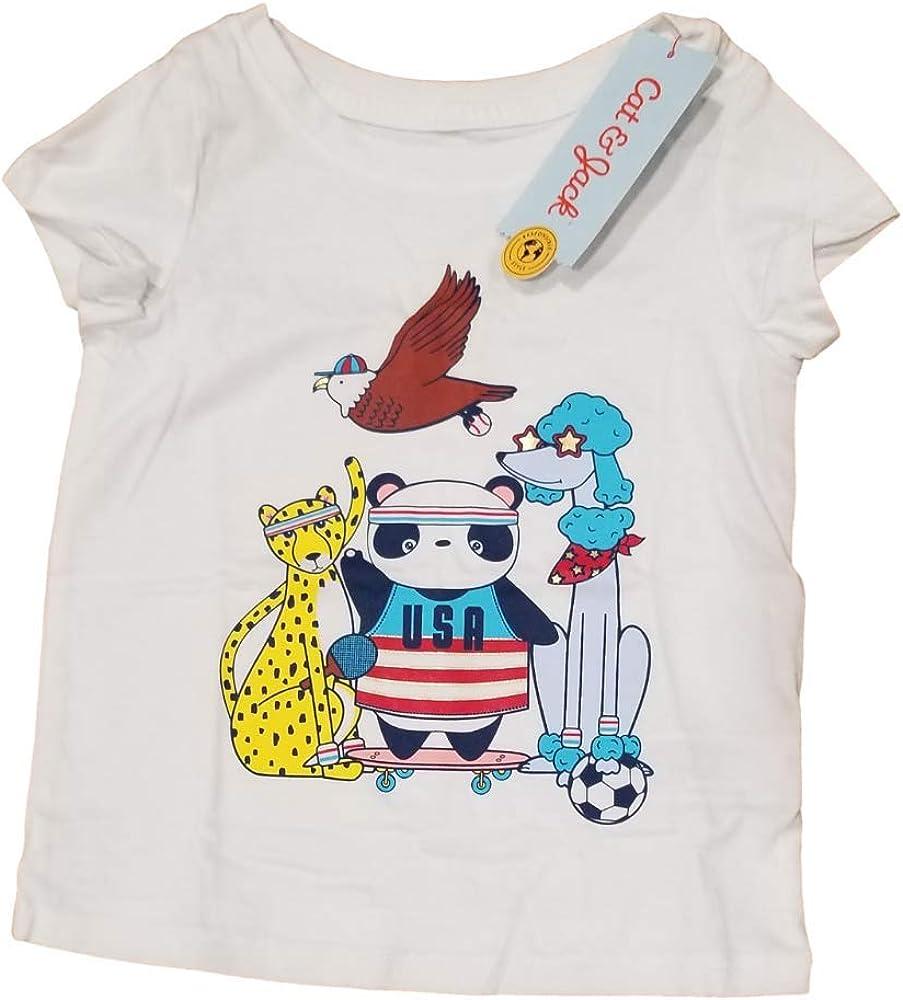 Cat & Jack Girls' Short Sleeve Graphic T-Shirt