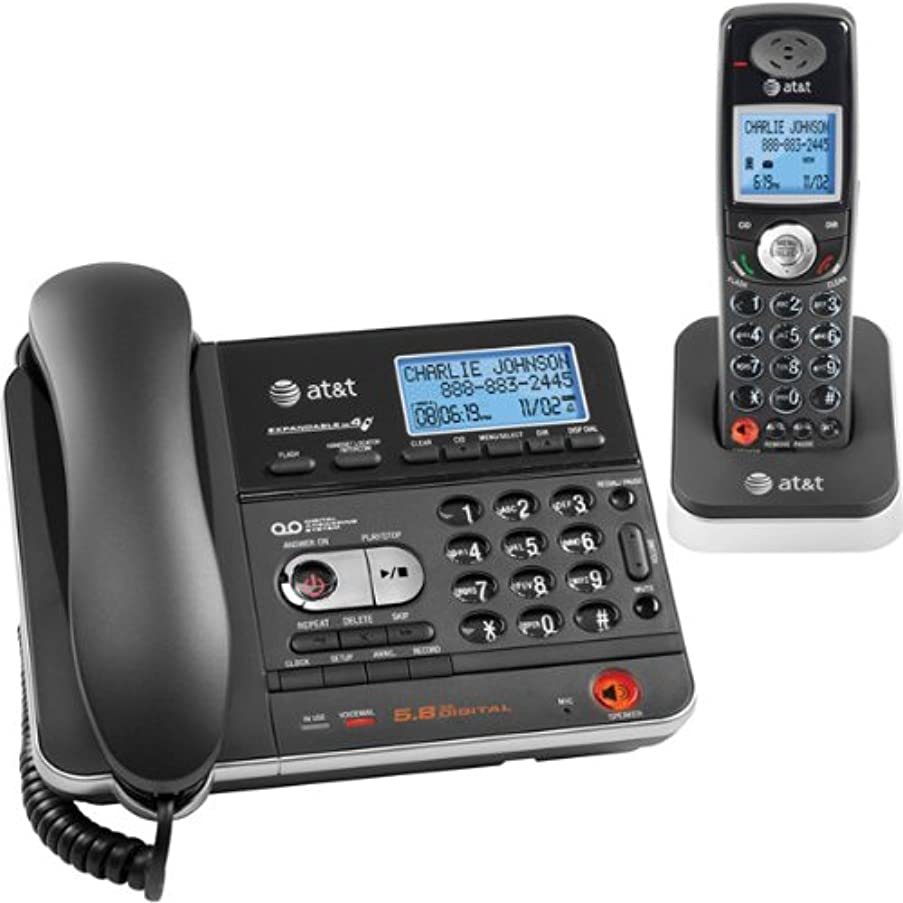 AT&T TL74108 5.8 DSS Corded/Cordless Answering System (Black)