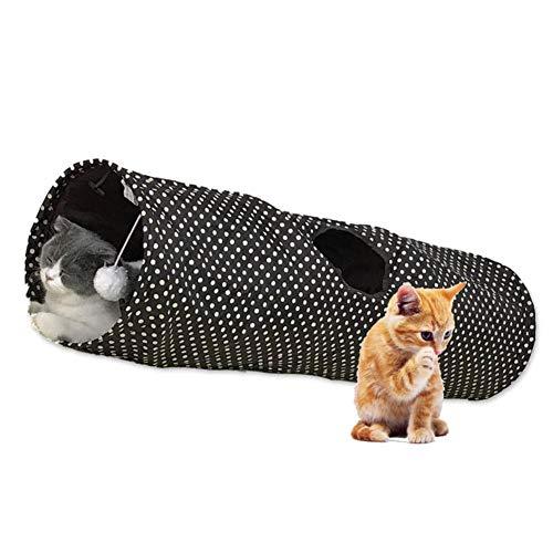 mementoy katzentunnel Spielzeug, Tunnelröhrenspielzeug für Hauskatzen, Zusammenklappbar, für Kätzchen, Kaninchen, Hamster, kleine Hunde, Polyester, 9.84X9.84X35.43in