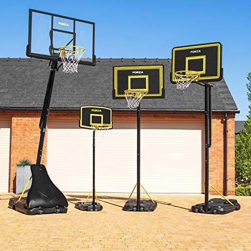 FORZA Panier de Basket-Ball & Poteau Réglable – Ballon & Pompe de Gonflage en Option (3 Tailles) (JS220, Poteau)