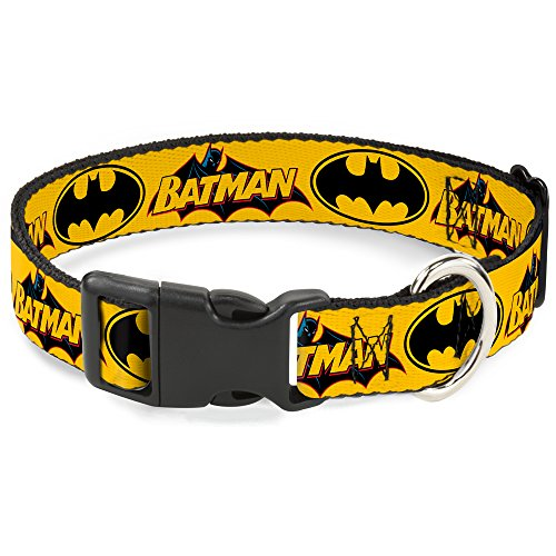 Buckle Down BAC-WBM017-NM - Collar para Gato (tamaño Mediano, 22 cm de Ancho), Color Amarillo