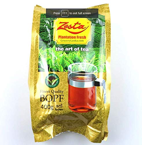 Zesta Ceylon Tee BOPF Single Origin Gartenfrischer loser schwarzer Tee 400g