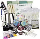 Candle Making Kit Supplies, DIY Scented Candles Gift Set for Women Candle Art and Craft Supplies Full Starter Set with Soy Wax, Fragrance Oil, Cotton Wicks, Candle Pigment, Tins and More