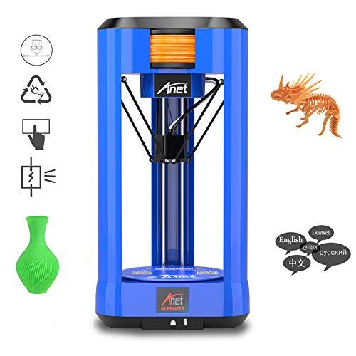 BESTSUGER Imprimante 3D, Imprimante 3D Anet à écran Tactile Couleur de 2,8 Pouces, Kit de Bricolage de Mise à Niveau Automatique 190 x 190 mm
