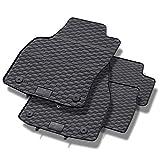 Mossa Alfombrillas de goma - 4-piezas - un ajuste perfecto - negro - 5902538448284
