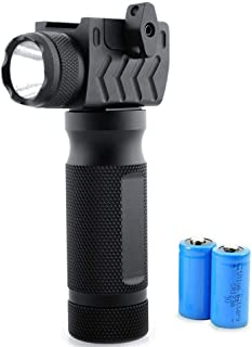 Tactical Q5 LED Vertical Flashlight Ultra Bright 400 Lumens Flash Light 2 Modes Water Resistant Fore Handheld Light(CR123A Lithium Batteries Included)