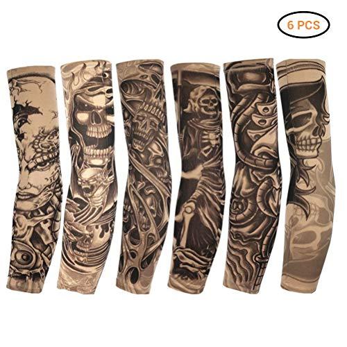 Egosy 6 Piezas Mangas de Tatuaje Tatoo Brazo Medias Brazo Medias de Tatuaje Unisex Nylon Tatuaje Brazo Medias Tatuajes temporales Brazo Tatuaje Brazo Medias Tatuaje Medias Brazo