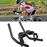 Manillar de Apoyo, aleación de Aluminio de la Carretera de la Bicicleta de la Carretera del Resto del Brazo del Manillar de la relajación del triatlón apoyabrazos de la montaña Ciclismo Clip