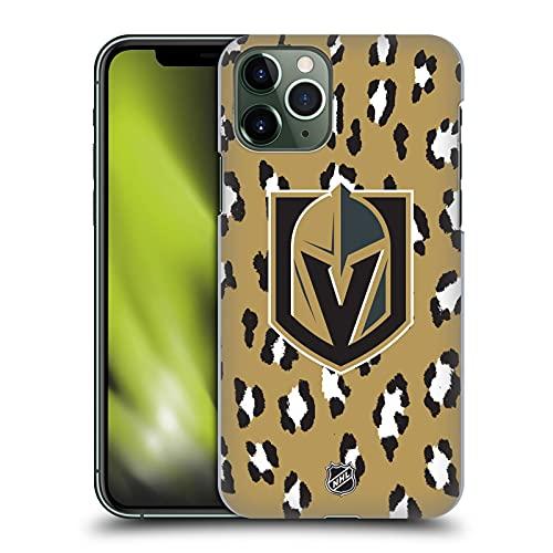Head Case Designs Licenciado Oficialmente NHL Patrón Leopardo Caballeros Dorados de Vegas Carcasa rígida Compatible con Apple iPhone 11 Pro