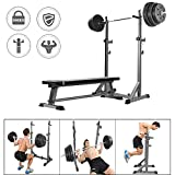 Musculation Squat Rack Barbell Rack reglable avec Barres De Support Haltérophilie Bench Press Cage De Squat Max 300 Kg+ Compact Équipement d'exercice De Fitness