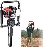 Gas T Post Driver 2 Stroke 32.7cc Manual Portable Lightweight Petrol Piledriver Handheld Pile Pounder
