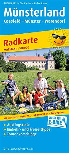 Münsterland, Coesfeld - Münster - Warendorf: Radkarte mit Ausflugszielen, Einkehr- & Freizeittipps, wetterfest, reissfest, abwischbar, GPS-genau. 1:100000 (Radkarte: RK)