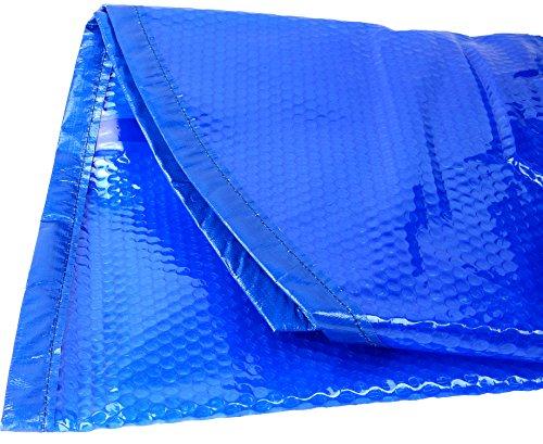 Bâche à bulle, bâche solaire, couverture solaire 400 mµ pour piscines rondes Ø 360 cm, avec bords renforcés cousus et œillets