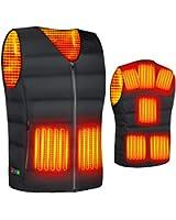2020最新型 電熱ベスト ヒートベスト 加熱ベスト ヒートジャケット 加熱服 ダウンジャケット 8つの発熱エリア 3段階溫度調整 電熱ウェア 超軽量 防寒ベストョッキ保暖服 男女兼用