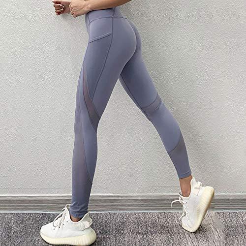 Beiziml Deporte Mujer Pantalones De Yoga De Cintura Alta Gimnasio Malla Patchwork Leggings Deportivos Push Up Fitness Leggings Sin Costuras Pantalones Deportivos