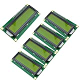 5個セット1602 5V 16x2キャラク LCDディスプレイ2行×16文字モジュールHD44780コントローラArduino に対応 (黄)
