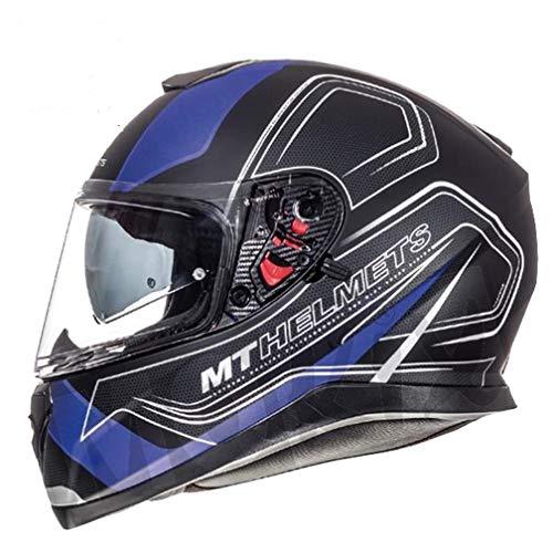 MT Thunder 3 SV Trace Casque intégral Noir/bleu mat XS noir/bleu