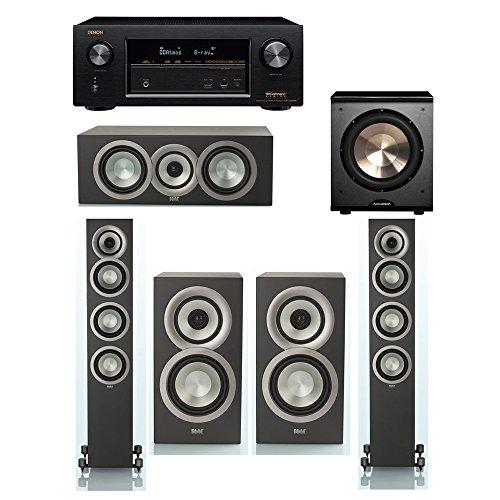 Buy Discount ELAC Uni-Fi Slim Black 5.1 System with 2 ELAC FS-U5 Floorstanding Speakers, 1 ELAC CC-U...