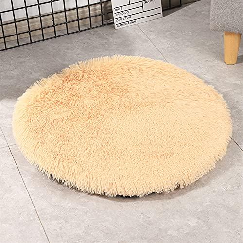JSJJAUJ Haustierbett Plüsch Haustier Bett Kissen Labrador Big Hundebett Große Hundezubehör Waren Für Tiere Matte Für Hunde Liegen Katzen (Color : Champagne, Size : 60CM)