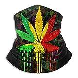 colorful weed seaml bandane maschera per il viso sciarpa ad archetto scaldacollo scaldacollo per raves all'aperto sport festival musicali