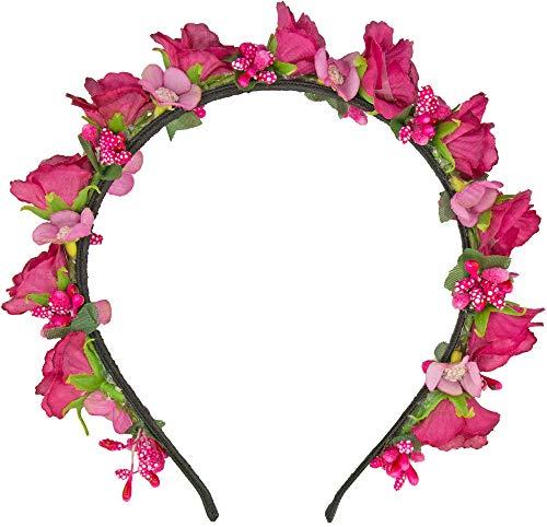 Trachtenland Blumen Haarreif Sabia - Pink