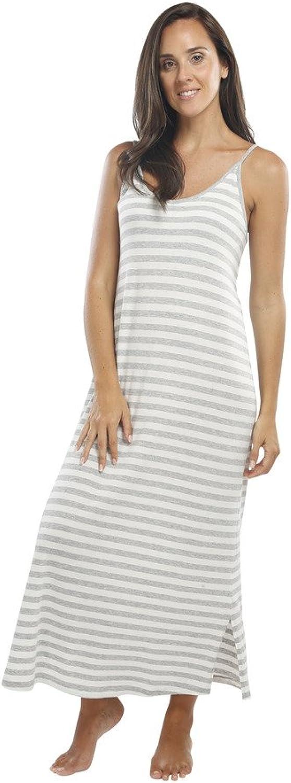 Jijamas Incredibly Soft Pima Cotton & Modal Women's Sleepwear  Nightgown. Heather Grey