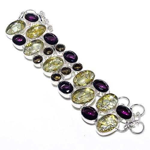 Golden Rutile Amethyst Gemstone Handmade Jewelry Ethnic Bracele price Max 89% OFF