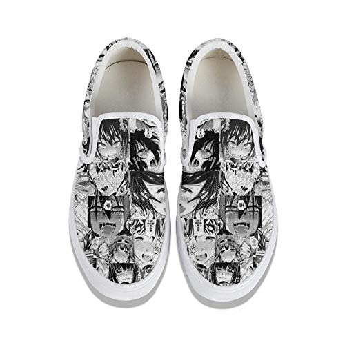 Vintage Loafers Casual Women's Ahegao- Canvas Shoes Sport Shoes Sneakers