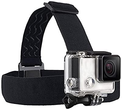 TEKCAM Wearing Headband Head Strap Belt Mount with Screw Compatible with Gopro Hero 7 6 5/APEMAN/AKASO/Campark/Victure/Crosstour/Prymax/Dragon Touch 4K Action Sports Camera (Camera Not Included) by TEKCAM