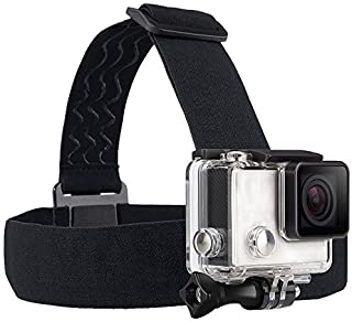 TEKCAM Wearing Headband Head Strap Band Mount with Screw Compatible for Gopro Hero 7 6 5/APEMAN/AKASO/DBPOWER/Campark/WIMI...