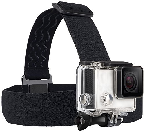 TEKCAM Wearing Headband Head Strap Belt Mount with Screw Compatible with Gopro Hero 7 6 5/APEMAN/AKASO/Campark/Victure/Crosstour/Prymax/Dragon Touch 4K Action Sports Camera (Camera Not Included)