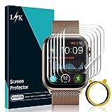 [6 Stücke] LϟK Schutzfolie Bildschirmschutzfolie für Apple Watch Series 6/5/4/SE 44mm, [Blasenfreie] [Kompatibel mit Hülle] HD klar Flexible TPU Bildschirmschutzfolie