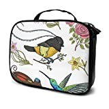 Bird of Paraíso Daffodil Estuche de maquillaje de viaje de tren de maquillaje neceser organizador portátil bolsa de almacenamiento para cosméticos, brochas de maquillaje, joyas, accesorios digitales