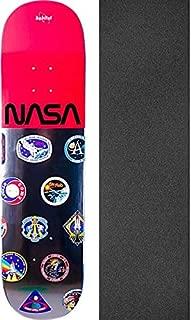 Habitat Skateboards NASA Logo Array Red Skateboard Deck - 8.12