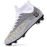 Botas de fútbol Tobillo High Top Zapatos de fútbol Spike Hombres Chicos...