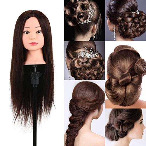 YANA Dummy For Hair Styling Practice, Dummy With Stand Hair Extension, Training Head Dummy