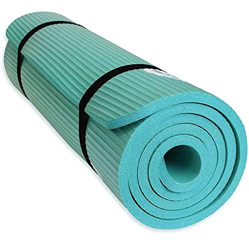 RYTMAT Tappetino da Yoga Antiscivolo 183×61cm 15mm NBR Tappetino Yoga Ecologico Tappetino per Pilates Fitness Ginnastica Sports